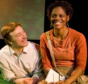 "Larry Gleason and Afton Williamson in ""I Have Before me a Remarkable Document given to me by a Young Lady from Rwanda"", 2009"
